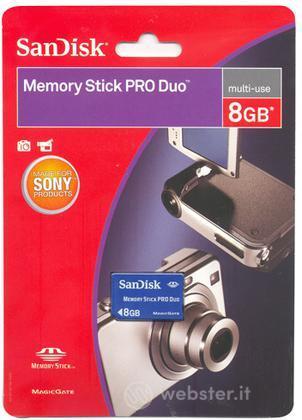 PSP SanDisk Memory Stick Pro Duo 8 Gb