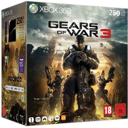 XBOX 360 S 250GB Gears of War 3 Bundle