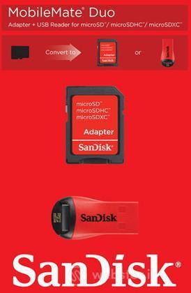 Sandisk lettore USB MicroSD+Adatt.SD