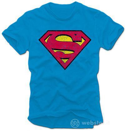 T-Shirt Superman Azzurra - M