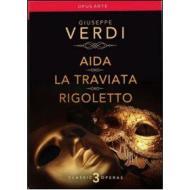 Giuseppe Verdi. Aida, La Traviata, Rigoletto (Cofanetto 3 dvd)