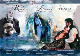 Giuseppe Verdi / Giacomo Puccini - 3 Live Operas: Rigoletto, La Traviata, Tosca (3 Blu-Ray) (Blu-ray)