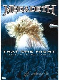 Megadeth. That One Night: Live in Buenos Aires