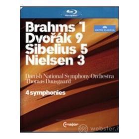 Brahms 1, Dvorak 9, Sibelius 5, Nielsen 3 (Blu-ray)