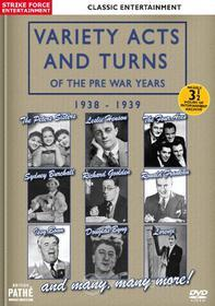 Variety Acts And Turns Of The Pre War Years 1938-1939
