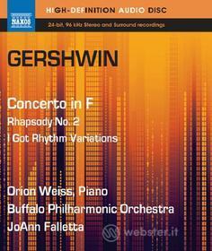 George Gershwin - Piano Concerto In F / Rhapsody No.2 / I Got Rhythm Variations (Blu-Ray Audio) (Blu-ray)