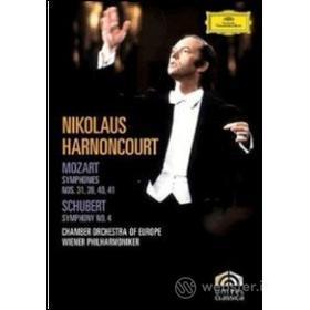Franz Schubert. Symphony No. 4 - Mozart. Symphonies Nos. 31, 39 - 41 (2 Dvd)