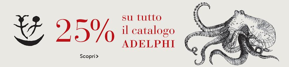 Adelphi -25% su tutto il catalogo